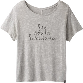 Prana Chez Camiseta Manga Corta Mujer, gray heather savassana